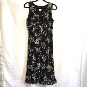 Ann Taylor Loft Silk A Line Empire Waist Dress